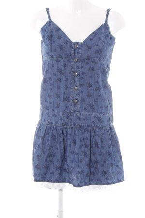 Only Jeanskleid stahlblau Blumenmuster Casual-Look