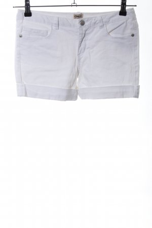 Only Pantaloncino di jeans bianco stile casual