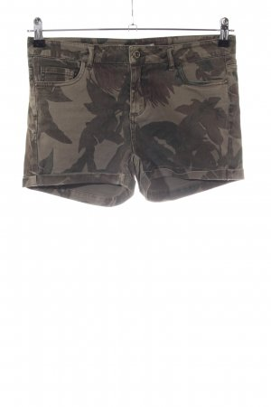 Only Pantaloncino di jeans marrone-cachi stampa integrale stile casual