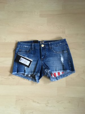 Only Short en jean multicolore
