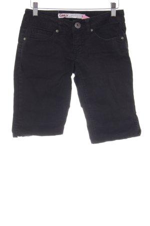 Only Jeansshorts schwarz-silberfarben Casual-Look