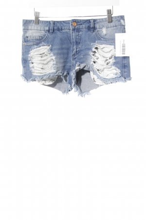 Only Jeansshorts stahlblau Used-Optik