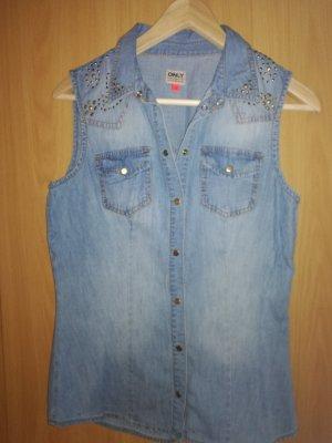 Only Denim Vest azure-steel blue