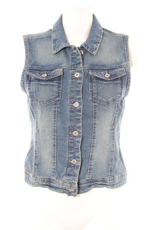 Only Gilet en jean bleu acier