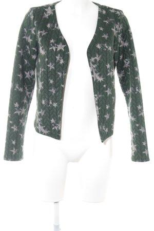 Only Jerseyblazer dunkelgrün-graubraun abstraktes Muster Casual-Look