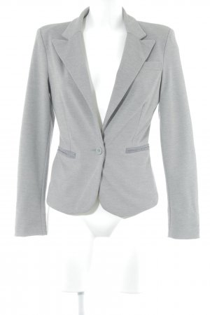 Only Jerseyblazer hellgrau-grau meliert Business-Look