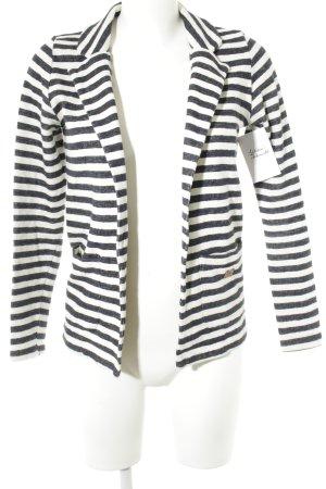 Only Jerseyblazer weiß-dunkelblau Streifenmuster Casual-Look