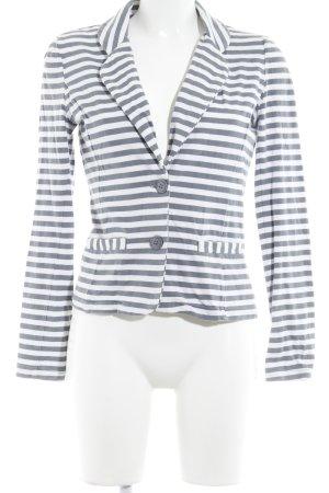 Only Jerseyblazer weiß-kornblumenblau Streifenmuster Casual-Look