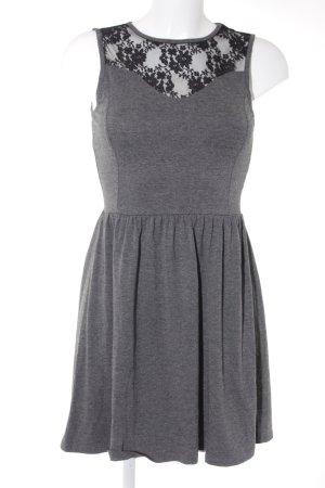 Only Jerseykleid grau-schwarz Casual-Look