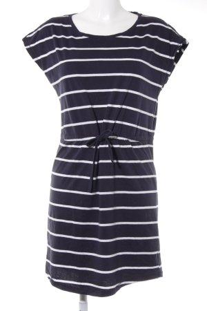 Only Jerseykleid weiß-dunkelblau Streifenmuster Casual-Look