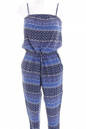 Only Jumpsuit blau-dunkelblau abstraktes Muster Casual-Look