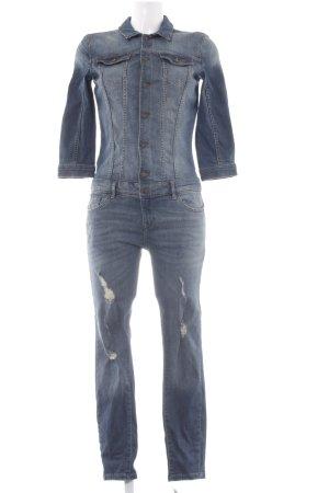 Only Jumpsuit blau Jeans-Optik