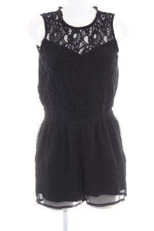 Only Jumpsuit schwarz florales Muster Elegant