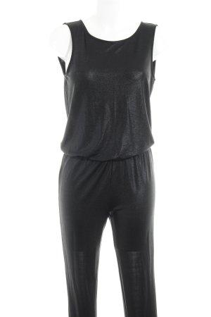 Only Jumpsuit schwarz Glitzer-Optik