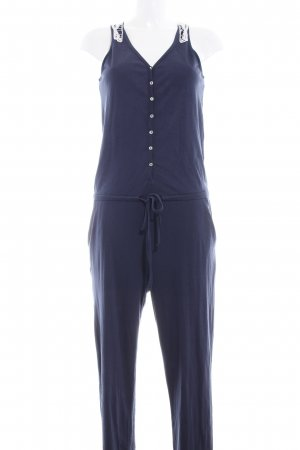 Only Jumpsuit weiß-dunkelblau Casual-Look