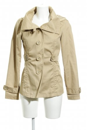 Only Chaqueta con capucha beige claro look casual