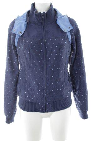 Only Veste à capuche bleu azur-bleu acier motif de tache style décontracté
