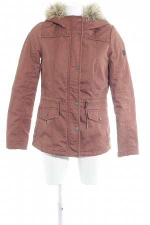 Only Kapuzenjacke rostrot Casual-Look
