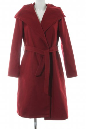 Only Hooded Coat dark red casual look