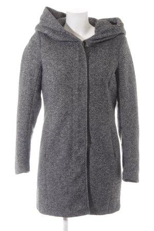 Only Abrigo con capucha gris-negro moteado look casual