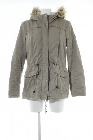 Only Hooded Coat green grey casual look