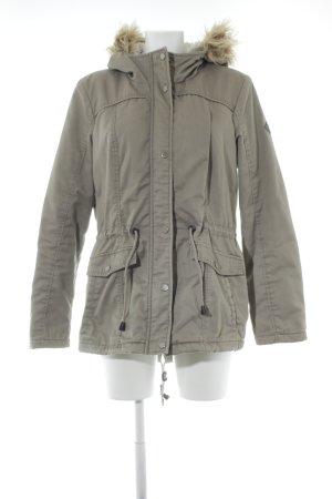 Only Manteau à capuche gris vert style décontracté