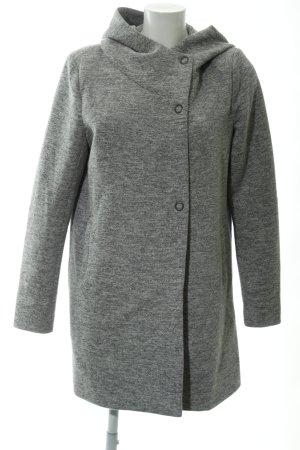 Only Cappotto con cappuccio grigio chiaro puntinato stile casual