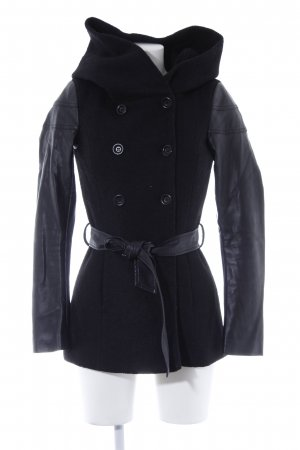 Only Hooded Coat black casual look