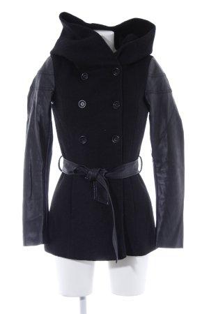 Only Manteau à capuche noir style décontracté