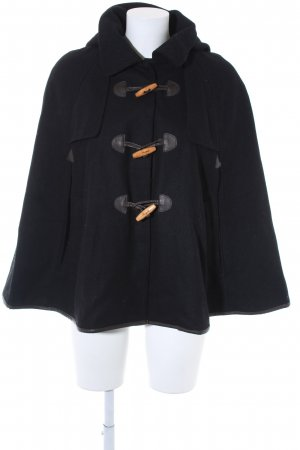 Only Hooded Coat black wooden look