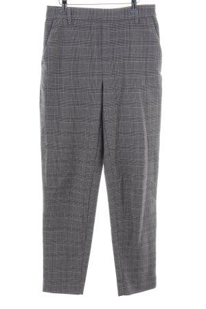 Only Pantalón de pinza alto gris claro-negro estampado a cuadros