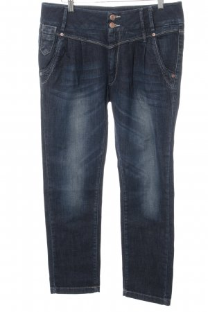 Only Carrot Jeans dark blue-slate-gray weave pattern casual look