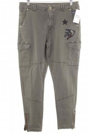 "Only Pantalon kaki ""Cargo Bird Patch Ankle"" kaki"