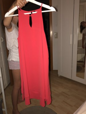 Only Vestido estilo flounce rojo