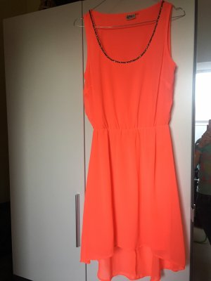 Only High Low Dress neon orange