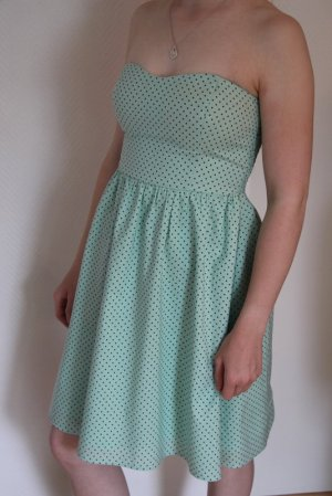 Only Corsage Dress mint-black cotton