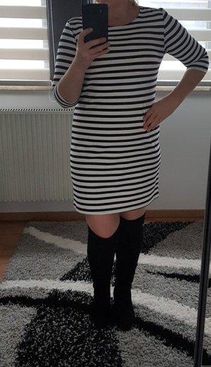 Only Kleid Minikleid Gr. L (40) Streifen casual leger 3/4 Arm Neu Party weiß / marine