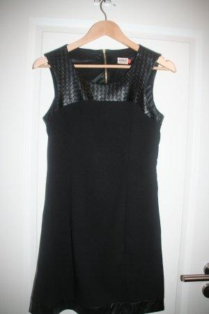 Only Kleid mit Lederimitat