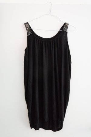Only Balloon Dress black-silver-colored viscose