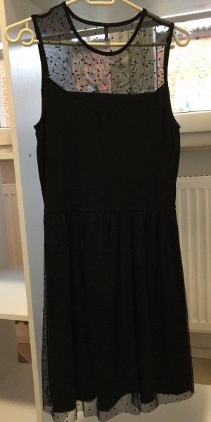Only Kleid schwarz Punkte Tüll M