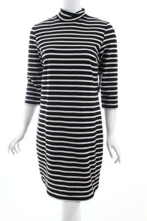 Only Kleid schwarz-weiß Ringelmuster