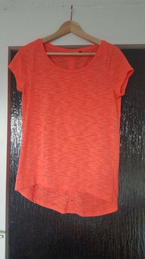 Only - korallfarbenes T-Shirt; Gr. XS/S