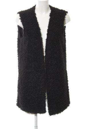 Only Fake Fur Vest black animal print