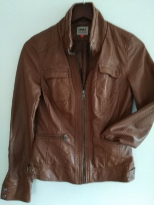 Only Faux Leather Jacket brown