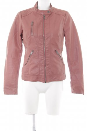 Only Faux Leather Jacket apricot simple style