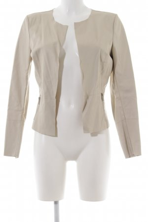 Only Kunstlederjacke creme Casual-Look