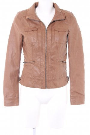 Only Faux Leather Jacket light brown casual look