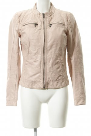 Only Faux Leather Jacket nude quilting pattern casual look