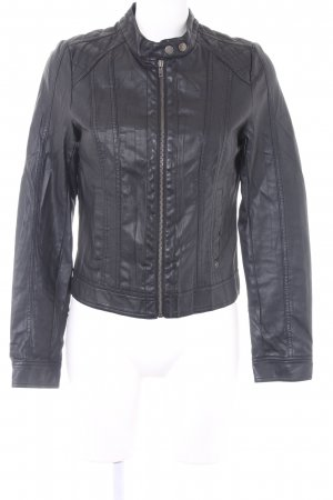 Only Faux Leather Jacket black casual look