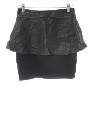 Only Jupe en cuir synthétique noir élégant